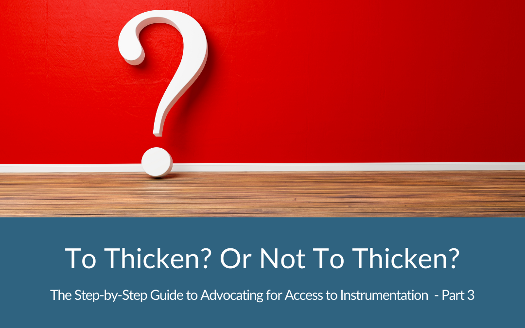 To thicken? or NOT to thicken? (A Compensatory Strategy Review for Swallowing Disorders Part 3)